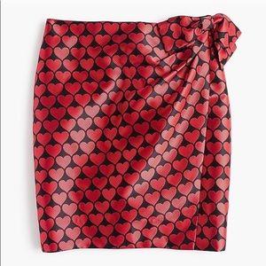 NWT! J.Crew Heart Wrap Skirt